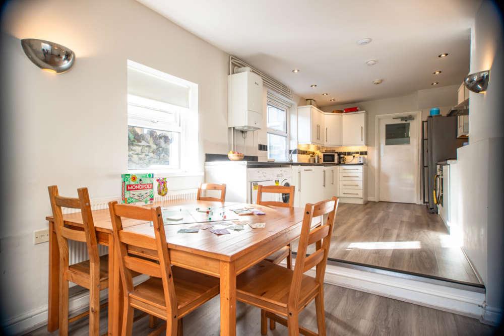 Open-plan kitchen/living area